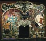 Врубель М.А. Микула Селянинович и Вольга. Камин. 1898-1900. Майолика. 225х275. ГТГ