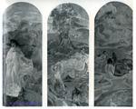 Врубель М.А. Суд Париса. 1893. Декоративное панно, предназначенное для лестницы в доме Е.Д. Дункер в Москве. Триптих.