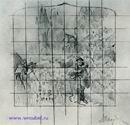 Врубель М.А. Фауст и Маргарита в саду. Эскиз декоративного панно для готич. кабинета в доме А.В.Морозова. 1896