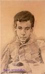 Врубель М.А. Портрет мальчика. 1903-1904. Бумага на картоне, графитный карандаш. 35,3х21,3. ГРМ