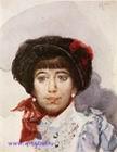 Врубель М.А. Портрет З.А. Штукенберг. 1882. Бумага, акварель. 16,4х12,7. ГРМ