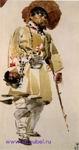 Врубель М.А. Натурщик в свамском костюме. 1882-1883. Бумага, акварель. 16,8х8,8. ГРМ