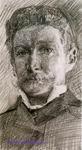 Врубель М.А. Автопортрет. 1904. Бумага, графитный карандаш. 27,3х15,4. ГРМ