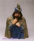 Врубель М.А. Царь Берендей. Модель. 1899-1900. Майолика, цветные глазури. 46х33,2х18,5. ГРМ