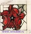 Врубель М.А. Эскиз для витража. Цветок. 1895-1896. Бумага, акварель, граф. карандаш. 12,1х11. ГРМ