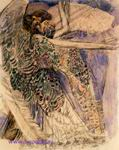 Врубель М.А. Серафим. 1904-1905. Бумага, акварель, уголь, графитный карандаш. 45х35,8. ГТГ