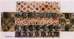 Врубель М.А. Скамья. Эскиз. Декоративный мотив для майолики. 1890-е (начало). Бумага, акварель. 12,3х24,5. ГРМ.