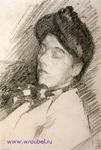 Врубель М.А. Портрет Н.И. Забелы-Врубель (спящей). Конец 1904-начало 1905. Бумага, графитный карандаш. 23,8х15,7. ГРМ