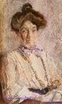 Врубель М.А. Портрет Н.И. Забелы-Врубель. 1904. Бумага, акварель, графитный карандаш. 33,1х19,8. ГРМ