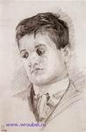 Врубель М.А. Портрет скульптора П.И. Бромирского. 1904. Бумага, графитный карандаш. 27,6х17,7. ГРМ