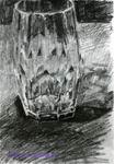 Врубель М.А. Граненый стакан. 1904. Бумага, карандаш. 25,1х18,4. ГРМ