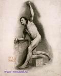 Врубель М.А. Натурщик. 1883. Бумага, угольный карандаш. 60,7х49. ГРМ
