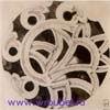 Врубель М.А. Орнамент. 1895-1896. Бумага, акварель черная, графитный карандаш. 12,3х12,3. ГРМ