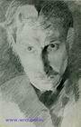 Михаил Врубель. Автопортрет. 1885.