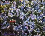 Врубель М.А. Сирень. Этюд для одноименной картины. 1900. Дерево, масло. 18,7х23. ГРМ