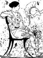 Рисунок на аттическом лекифе