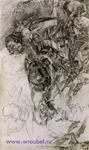 Врубель М.А. Кампанулы. Из серии этюдов Кампанулы. 1904. Бумага, графитный карандаш. 33,2х19,8. ГРМ