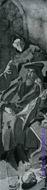 Врубель М.А. Фауст и Мефистофель. Эскиз декоративного панно для готич. кабинета в доме А.В.Морозова. 1896. Б, акв.