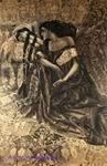 Врубель М.А. Тамара и Демон. 1890-1891. Бумага на картоне, черная акварель, белила. 96х65. ГТГ