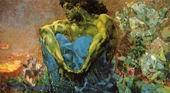 Врубель М.А. Демон сидящий. 1890. Холст, масло. 115х212,5. ГТГ