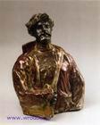 Врубель М.А. Садко. Полуфигура по модели. 1899-1900. Майолика, цветные глазури с металлическим отблеском, восстановительный обжиг. 41х33х27. ГРМ