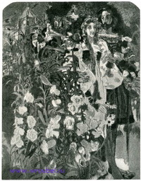 Фауст и Маргарита в саду (эскиз панно)