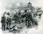 Врубель М.А. На трупы всадников порой верблюды с ужасом глядели... 1890-1891. Илл. к поэме Демон М.Ю. Лермонтова.