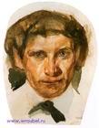 Михаил Врубель. Автопортрет. Бумага, акварель. 1883. 13,3х10,1. ГРМ