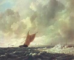 Морской пейзаж (Рейсдаль Якоб Исаак)