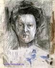 Врубель М.А. Портрет В.А. Усольцевой. 1905. Бумага, цветные мелки, графитный и итальянский карандаши, уголь, черная пастель, сангина. 42,4х34,2. ГРМ