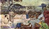 Врубель М.А. Италия(сцена из античной жизни). 1891. Эскиз театрального занавеса.